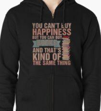 Books=Happiness Zipped Hoodie