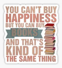 Books=Happiness Sticker