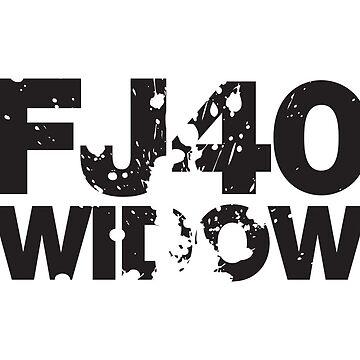 Fj40 Widow Bold Splat by FJ40Widow