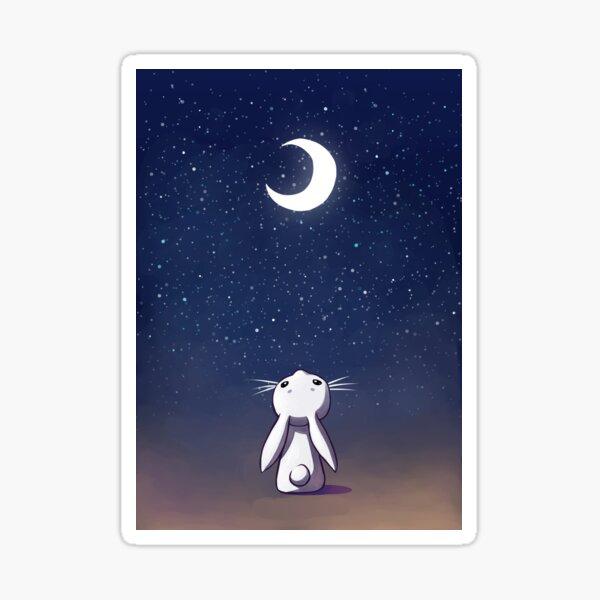 Moon Bunny Sticker