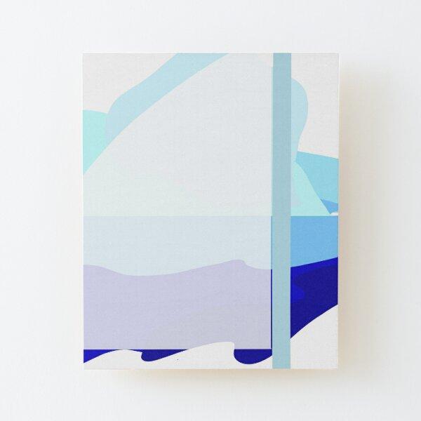 Blue  Wood Mounted Print