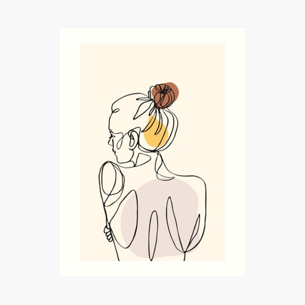 Abstract Woman Back Art Print