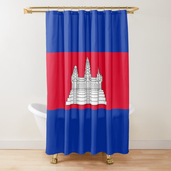 Cambodia Flag Gifts, Stickers & Products Shower Curtain