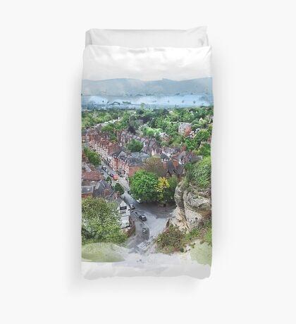 Nottingham city watercolor  Duvet Cover