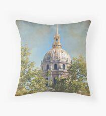 Mansart's Gilded Dome Throw Pillow