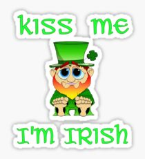 Kiss Me I'm Irish & Cute  feat Lil Blarney  Sticker