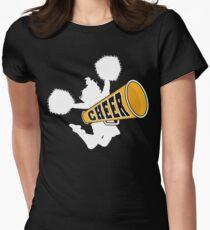 """Cheerleader """"CHEER"""" Dark Womens Fitted T-Shirt"""