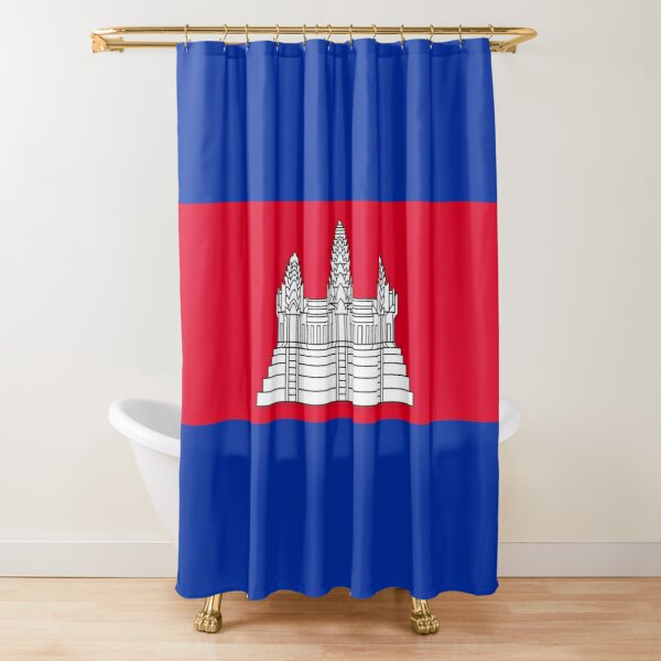 Cambodia Flag Gifts, Stickers & Products (GF) Shower Curtain