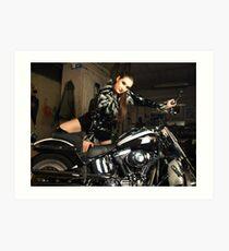 Harley Davidson girl 16 Art Print