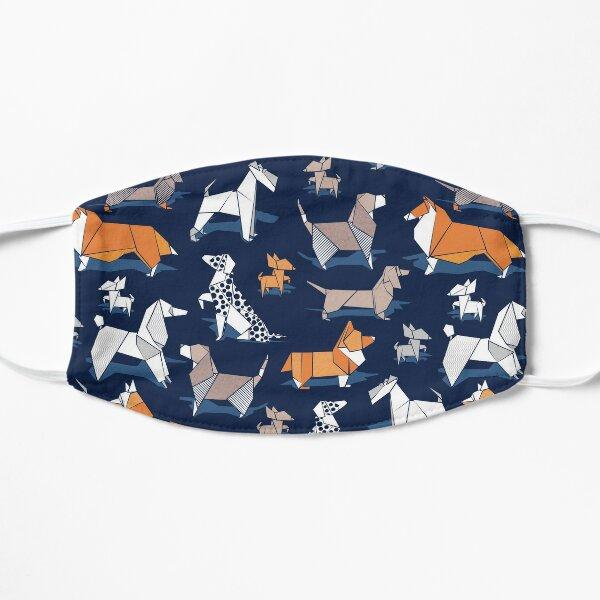 Origami doggie friends // oxford blue background paper Chihuahuas Dachshunds Corgis Beagles German Shepherds Collies Poodles Terriers Dalmatians Flat Mask