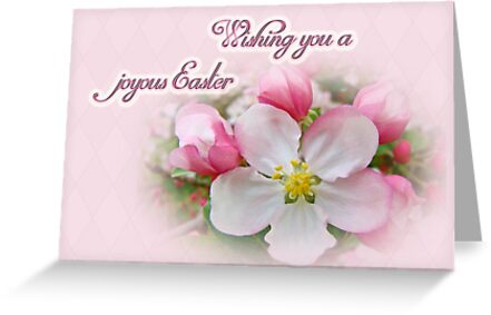 Easter Greeting Card - Apple Blossoms by MotherNature
