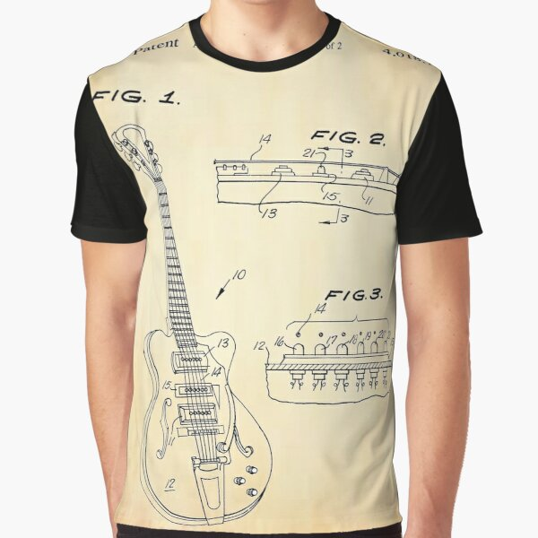 Patented Hollowbody Guitar  Graphic T-Shirt