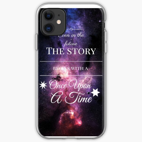 Once Upon a Time- The Lunar Chronicles- Marissa Meyer- Space Purple iPhone Soft Case