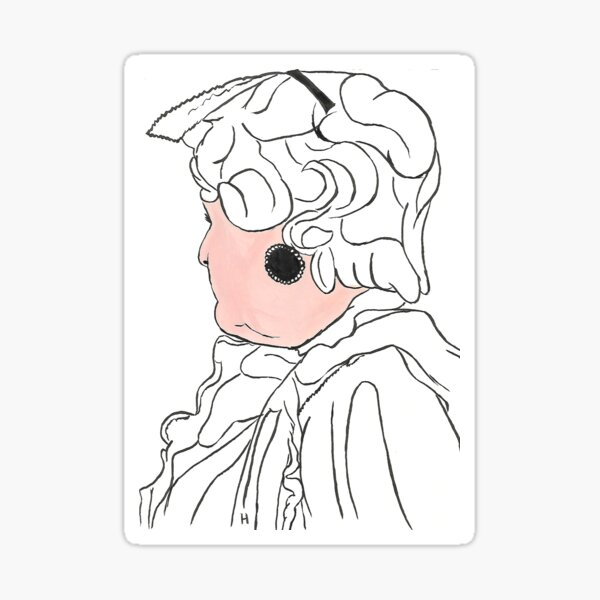 Southern Lady looking away Sticker
