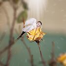 Yellow Rose Angel by gloriajean