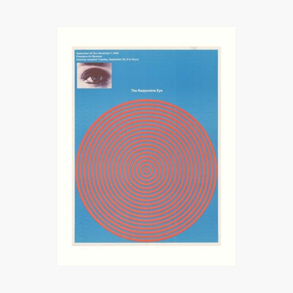 The Responsive Eye  Patrick Blackwell - Exhibition Poster Art Print