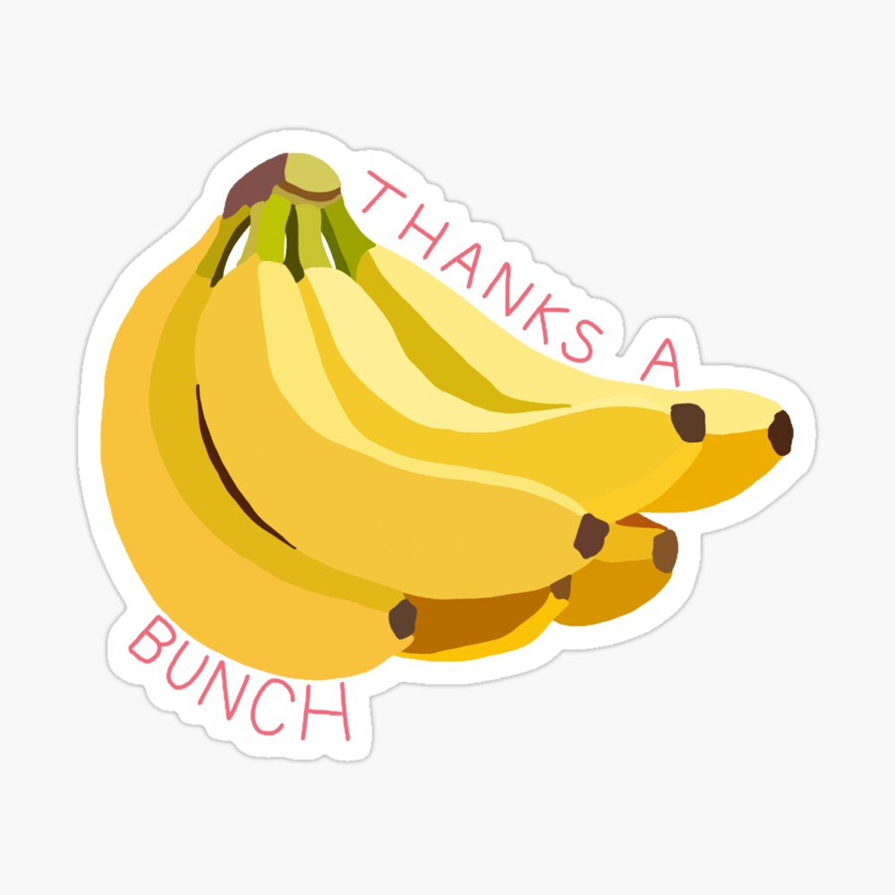 bySophieAllin Thanks a Bunch Banana Yellow Card Greetings Card