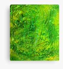Green Contemporary Abstract Modern Painting Canvas Print