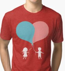 Sweethearts boy and girl Tri-blend T-Shirt
