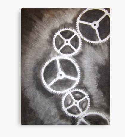 Charcoal Gears Canvas Print