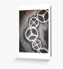 Charcoal Gears Greeting Card