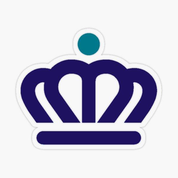 Charlotte Crown Purple/Teal Transparent Sticker