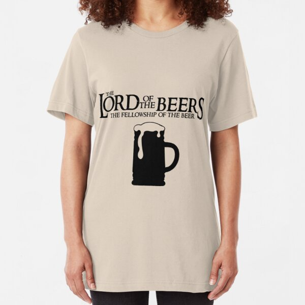 Lord of the Beers - Fellowship of the Beer Slim Fit T-Shirt