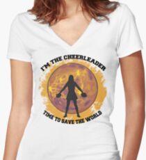Cheerleader Women's Fitted V-Neck T-Shirt