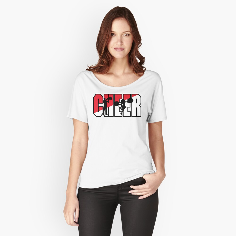 CHEER Women's Relaxed Fit T-Shirt Front