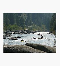 Kayakers waiting for their set Photographic Print