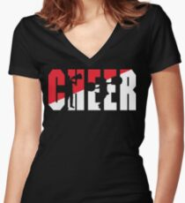 CHEER Women's Fitted V-Neck T-Shirt