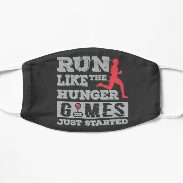 RUN LIKE THE HUNGER GAMES JUST STARTED FUNNY T-SHIRT DESIGN Small Mask