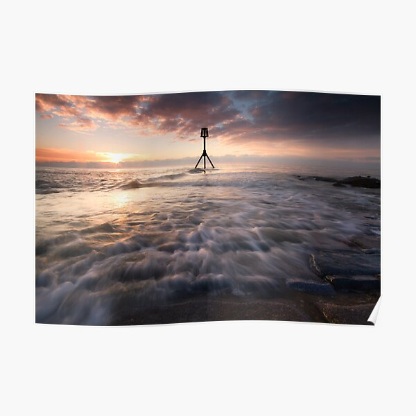 Eastbourne jetty sunrise Poster
