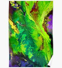 Contemporary abstract modern painting Poster