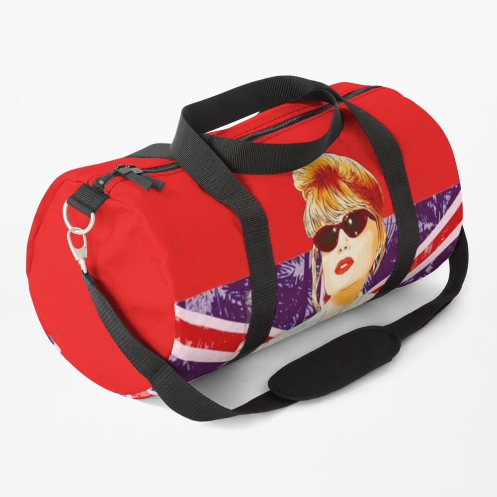 Patsy Stone with the English flag  Union Jack in Absolutely Fabulous  Duffle Bag