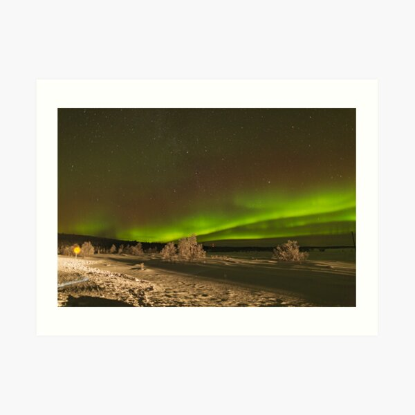 Aurora with Foreground Art Print