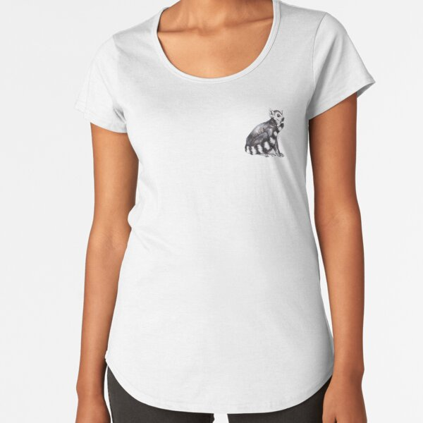 Ring-Tailed Lemur Premium Scoop T-Shirt