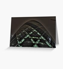 HDR Gherkin By Night. Greeting Card