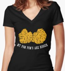 Cheerleader Pom Pom Women's Fitted V-Neck T-Shirt