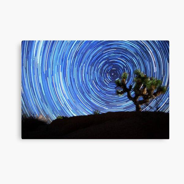 Stunning Circular Star Trails Above Joshua Tree Desert Canvas Print