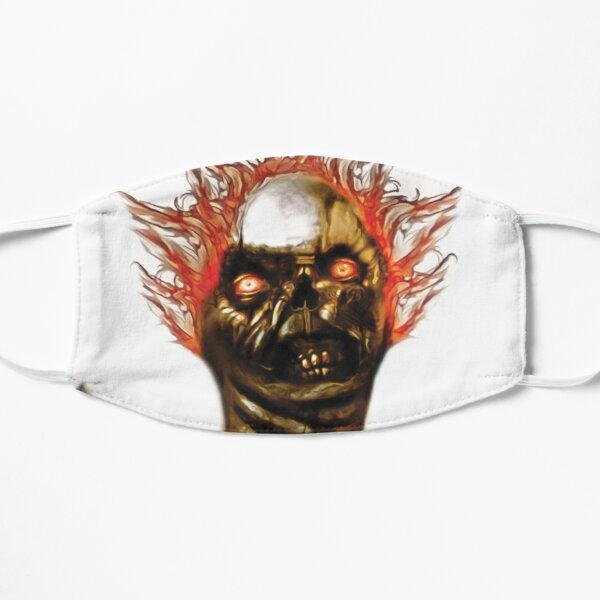 Flaming-Zombie Mask