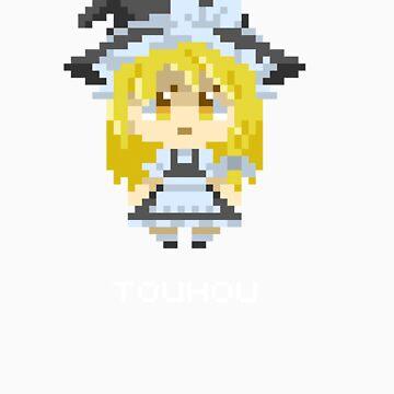 Marisa Kirisame Pixels Tee by Astrotoast