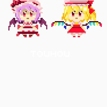 Scarlet Sisters Pixel Tee by Astrotoast