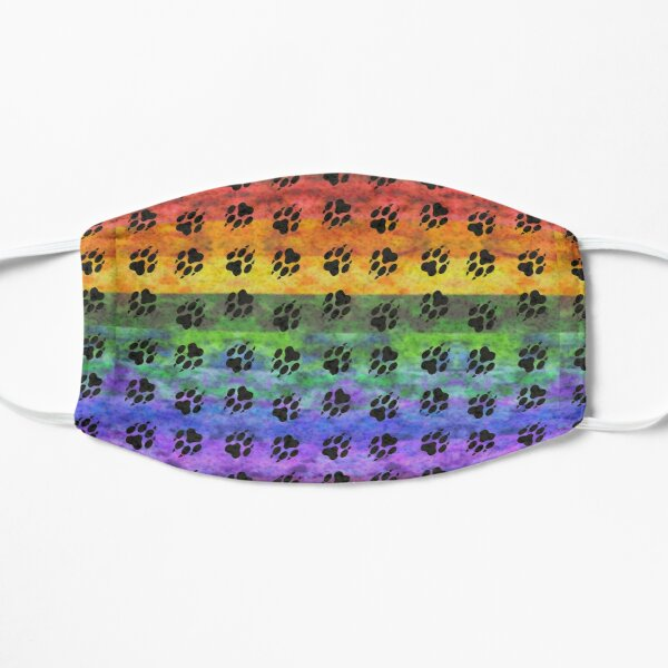 Pawprints Rainbow Spectrum Flat Mask