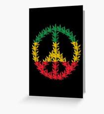 Rastafari Cannabis Peace Symbol Grußkarte