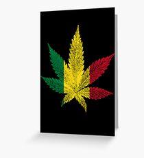 Rastafari Cannabis Leaf Greeting Card