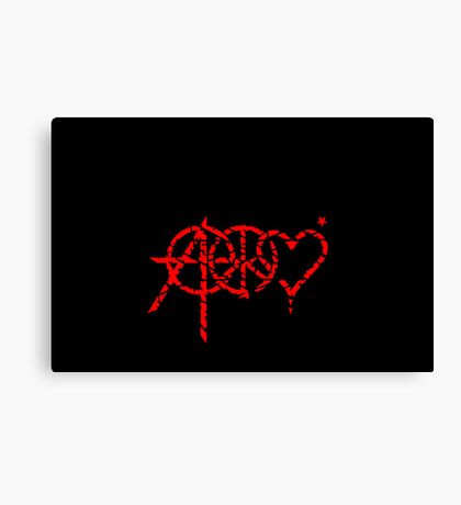 Anarchy, Peace & Love (grunge) VRS2 Canvas Print