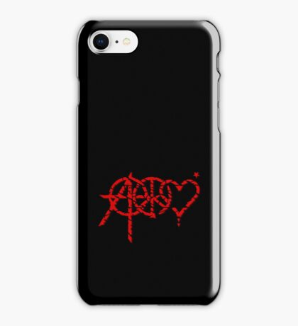 Anarchy, Peace & Love (grunge) VRS2 iPhone Case/Skin