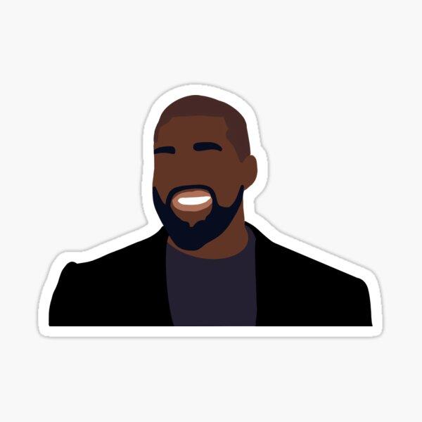 Kanye West Faceless Portrait Sticker