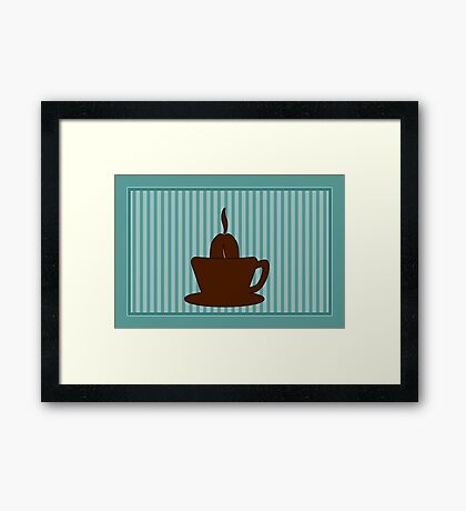 Coffee Cup VRS2 Framed Print